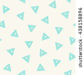 seamless pattern of triangle... | Shutterstock .eps vector #438158896