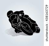 vector silhouette of biker   Shutterstock .eps vector #438163729