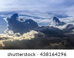 sky with storm clouds as... | Shutterstock . vector #438164296