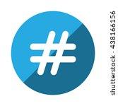 hashtags icon jpg | Shutterstock .eps vector #438166156