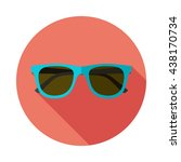 sunglasses icon with long... | Shutterstock .eps vector #438170734