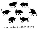 A Series Of Bull Cattle Animal...