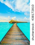 beautiful tropical maldives... | Shutterstock . vector #438172810