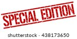 special edition stamp.stamp... | Shutterstock .eps vector #438173650