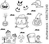 scary element halloween in... | Shutterstock .eps vector #438176140