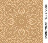 mandala seamless pattern.... | Shutterstock .eps vector #438179008