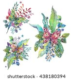 beautiful floral background... | Shutterstock . vector #438180394
