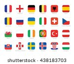 flags of participating...   Shutterstock .eps vector #438183703