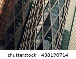 skyscrapers with glass facade.... | Shutterstock . vector #438190714