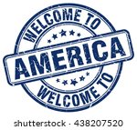 Постер, плакат: welcome to America stamp America