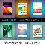 set ofbrochure templates  flyer ... | Shutterstock . vector #438214984