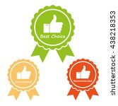 guaranteed  best choice and... | Shutterstock .eps vector #438218353