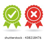 approved and rejected icon | Shutterstock .eps vector #438218476