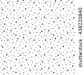 Black Chaotic Dots Vector...