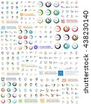 abstract logo mega set.... | Shutterstock .eps vector #438230140