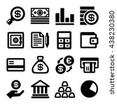 business and finance icons set. ... | Shutterstock . vector #438230380