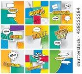cartoon comic book template... | Shutterstock .eps vector #438233284