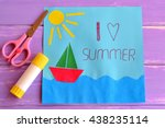 Colorful Paper Card With Ship ...