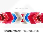 glass glossy arrow motion... | Shutterstock .eps vector #438238618