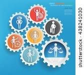 businessman character info... | Shutterstock .eps vector #438241030