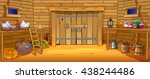 the life on the farm. inside... | Shutterstock .eps vector #438244486