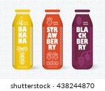 bottle of juice  sugar water ... | Shutterstock .eps vector #438244870