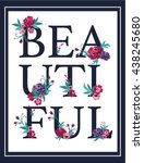 embroidery for fashion with... | Shutterstock .eps vector #438245680