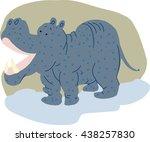 hippo | Shutterstock .eps vector #438257830