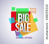 big sale with colorful... | Shutterstock .eps vector #438259210