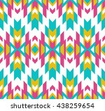 tribal seamless colorful... | Shutterstock .eps vector #438259654