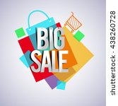big sale discount vector design ... | Shutterstock .eps vector #438260728