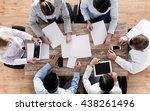 business  people and team work... | Shutterstock . vector #438261496