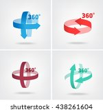 angle 360 degrees sign icon ... | Shutterstock .eps vector #438261604