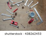 flat lay of set of tools for... | Shutterstock . vector #438262453