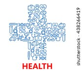 medical hospital cross symbol... | Shutterstock .eps vector #438266419