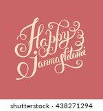 happy krishna janmashtami hand... | Shutterstock .eps vector #438271294