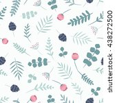 seamless flower pattern. vector ... | Shutterstock .eps vector #438272500