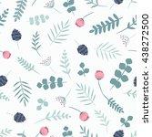 seamless flower pattern. vector ... | Shutterstock .eps vector #438272500