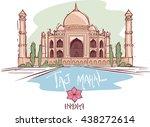 vector illustration of a  taj... | Shutterstock .eps vector #438272614