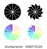 infographics. circles with... | Shutterstock . vector #438273226