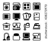 household appliances icons set... | Shutterstock . vector #438273970