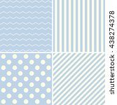 set of blue cute patterns. | Shutterstock . vector #438274378