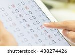 student testing exercise  exams ... | Shutterstock . vector #438274426