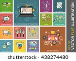 set of vector flat... | Shutterstock .eps vector #438274480
