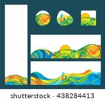 summer travel   banners and... | Shutterstock .eps vector #438284413