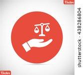 libra vector icon   Shutterstock .eps vector #438286804