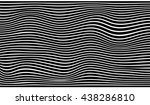 black and white striped wave... | Shutterstock .eps vector #438286810
