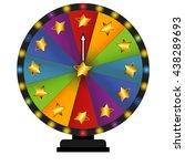 wheel of fortune  lucky. vector ... | Shutterstock .eps vector #438289693