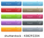 set of export glossy color... | Shutterstock .eps vector #438292204