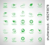 ball icons set   isolated on... | Shutterstock .eps vector #438293878